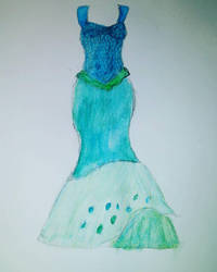 Mermaid dress concept by Uminohoshi