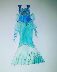 Mermaid dress concept 2 by Uminohoshi