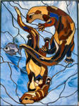 Dancing Otters by Tsulea
