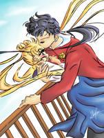 Seiya and his Odango by Ebsie