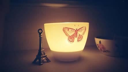 Eiffel Butterfly by Kikinna