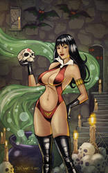 Vampirella's Cauldron - Color by chriscanianoart