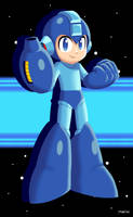 Mega Man Lineless by martinsaenz1996