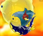 Teaching Keldeo to fly. (Pokemon) by BlaueSeele