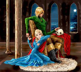 Hamlet and Ophelia by seshiria