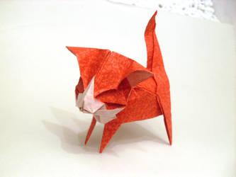 Origami Cute Kitten by Orestigami