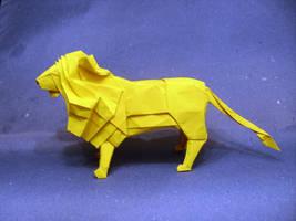 Origami lion by Orestigami