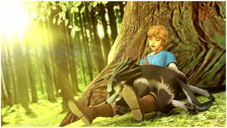|Blender3D|LoZ| Nap Within The Woods by UniversalKun