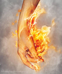 Hand Element: FireBall #2 by tvlookplay