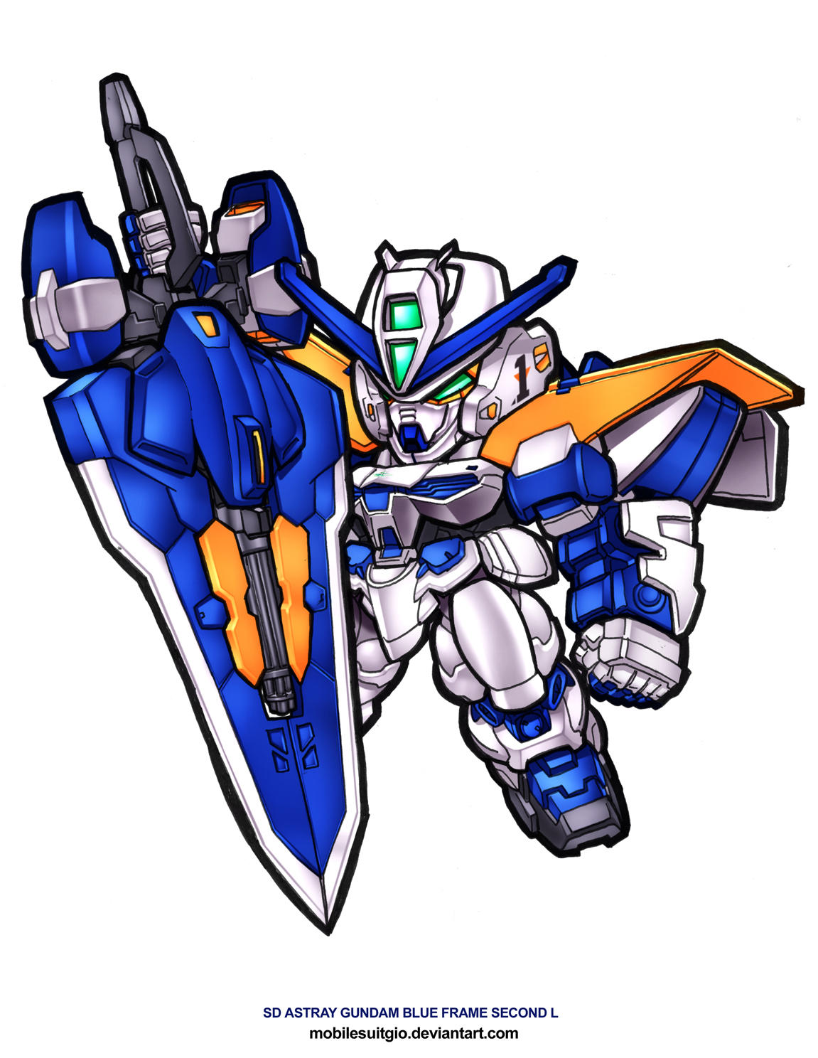 Sd Astray Blue Frame Second L By Mobilesuitgio On Deviantart Gundam Revise