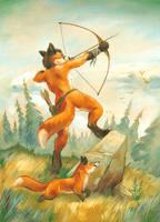 Fox huntress by ScalerandiArt