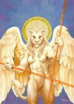Lioness angel by Alessio-Scalerandi