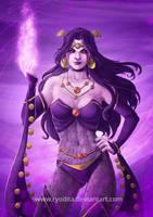 Rainbow of Evil: Purple for Shiklah by ryodita