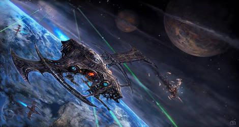 Space Pieces by alikasapoglu