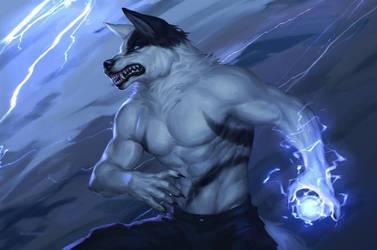 Lighting Werewolf by Nathan123qwe
