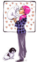 Commission - pink hair by damnskippy