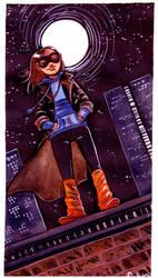 Superhero Girl by damnskippy