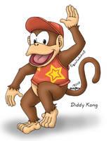 Diddy Kong by louisalulu