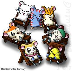 Hamtaro's Bad Fur Day by louisalulu