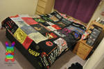 T-Shirt Patchwork Blanket by louisalulu