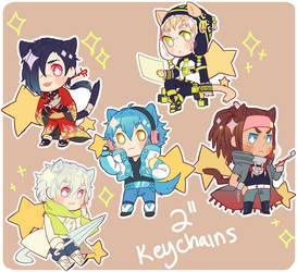 dmmd keychains by Tomoji