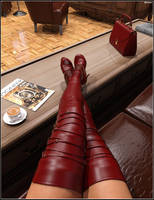 Katharina's Phone: Red boots by Jokovich01