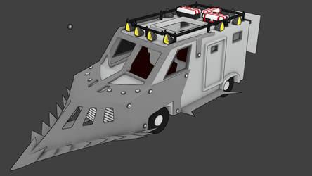 Anti-Zombie Van by LouisIII