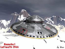 Nazi UFO Haunebu I by Deepskyer