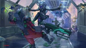 Warframe: Saryn Prime by Otakoma