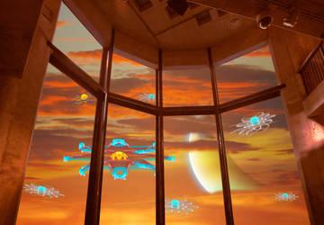 Window on clouds by tsahel