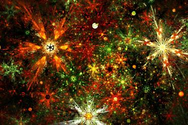 fireworks of stars by tsahel
