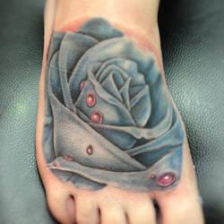 blue rose by RaggaArt14