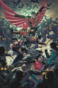 Bat Family vs. Owl by BryanValenza