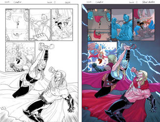 Marvel sample page_THOR 03 by BryanValenza