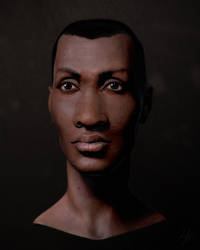 Head Sketch 24 Render 1 by unbequo