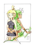 evangelyne and amalia - wakfu by moutonshield