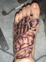 Skeleton foot by KidNamedEmCee