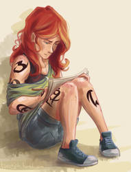 Clary Drawing by taratjah