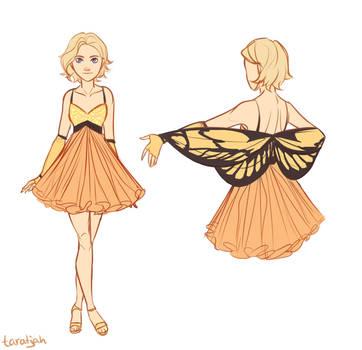 Cress Butterfly Dress by taratjah