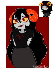 Drawing and Coloring from Memory: Aradia Megido by DandelionLeo