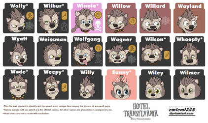 [NEW] Hotel T/All Unique Wolf Pups by emiemi345