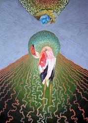 felled flamingo by edelias
