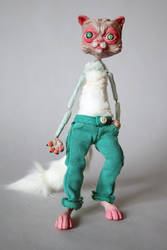 Sully the Persian Cat Puppet by edelias
