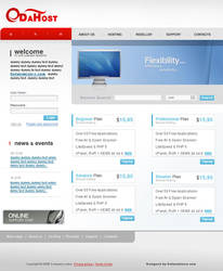 Hosting template web 2.0 by nomzz