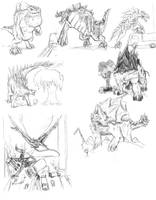 Monsterpocalypse sketches by Jazon19
