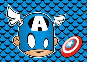 Heads Up Captain America by HeadsUpStudios