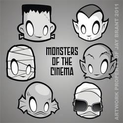 Heads Up Monsters of Cinema by HeadsUpStudios