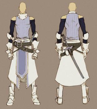 [SOLD] White and Black Swordman by MizaelTengu