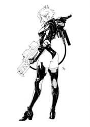 [SOLD] CYBER GIRL by MizaelTengu