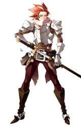 [SALE ADOPTABLE] Red Head Swordman - Open by MizaelTengu